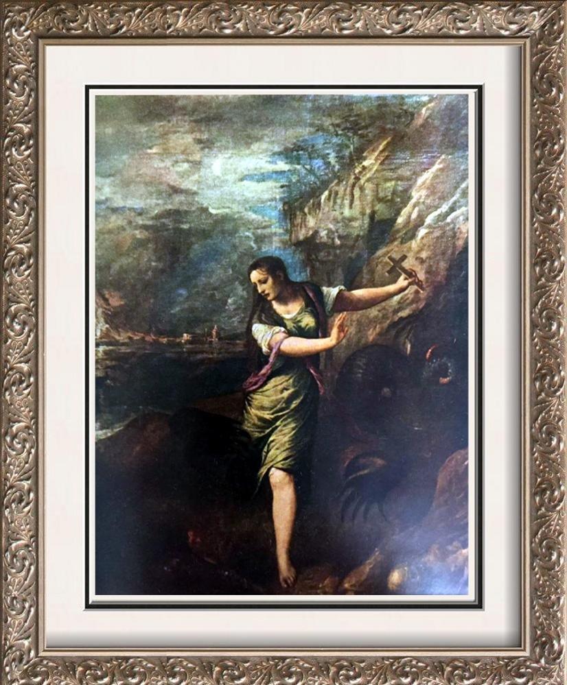 Tiziano Vecellio Titian Saint Margaret c.1565 Fine Art