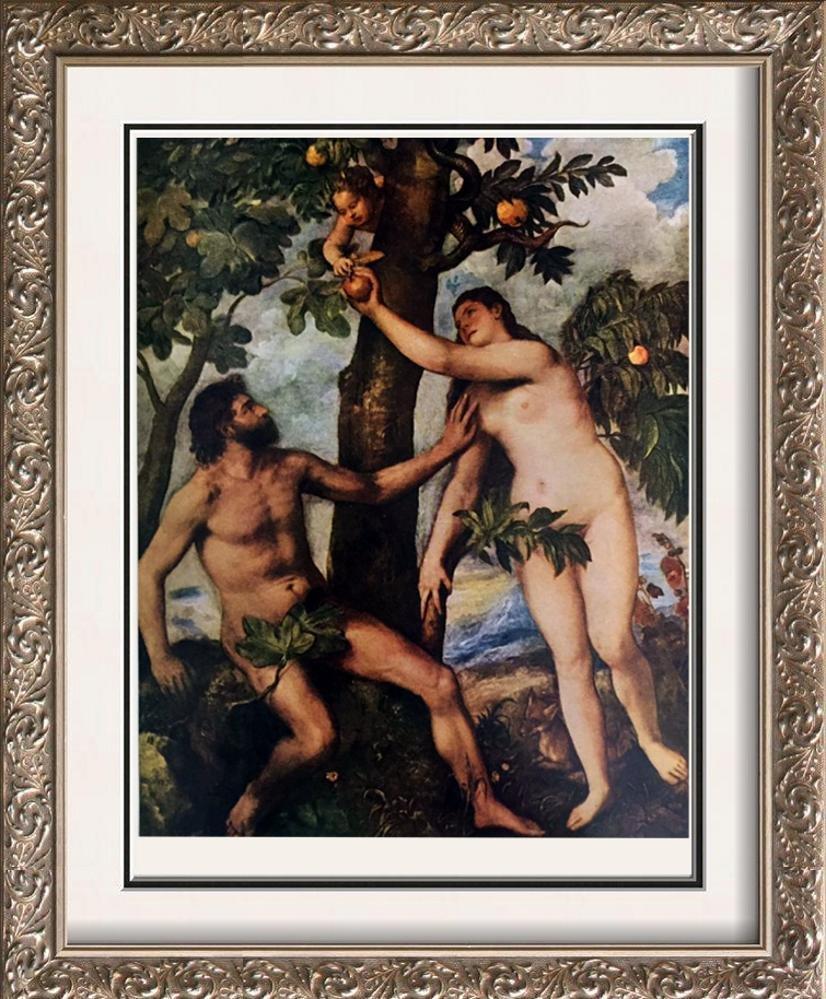 Tiziano Vecellio Titian The Fall of Man c.1570 Fine Art