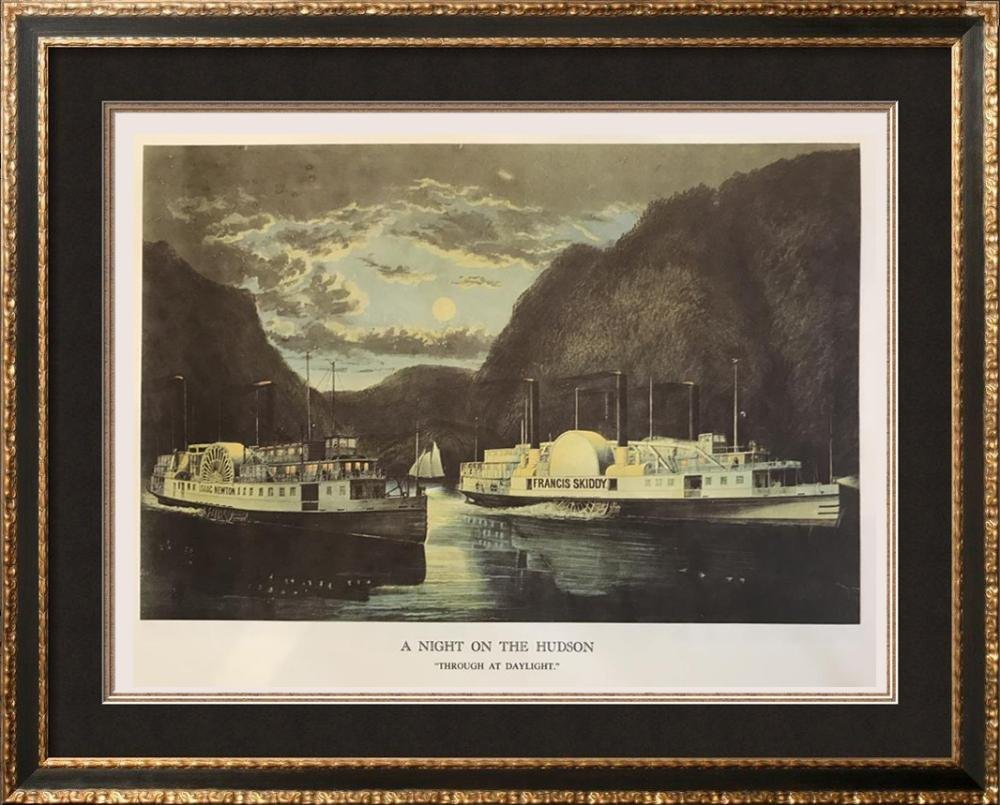 Steam Ships: A Night On The Hudson