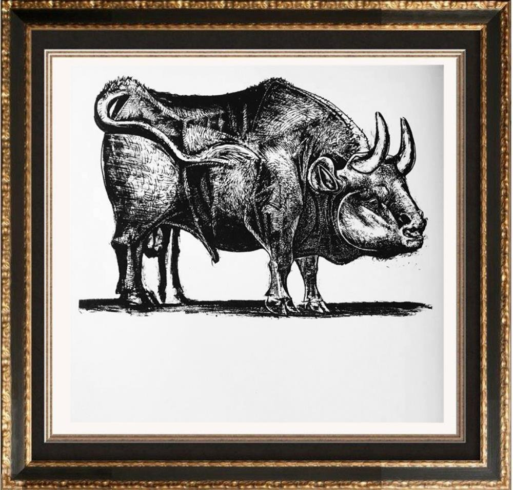 Pablo Picasso 'After'  Bull c. 1945 Fine Art Print from