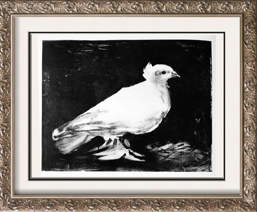 Pablo Picasso 'After'  Dove c. 1949 Fine Art Print from