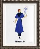 Erte Colored Litho Huge Sale Sale Art Deco Collectible