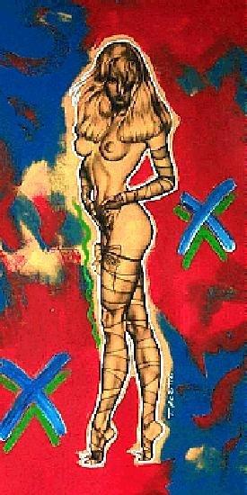 762A: Nude Celebrity Canvas POP Art Original