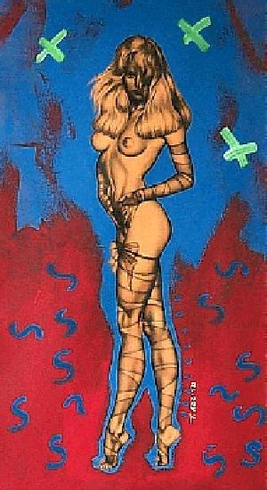 763A: Celebrity Nude Canvas Painting POP ART