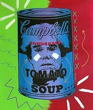 884A: Warhol in Soup Can Original POP Canvas Low $$