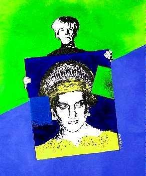 918A: Warhol & Princess Diana POP Canvas Art Liquidatio