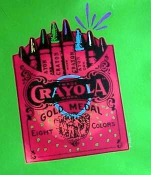 938A: Large Canvas Crayons POP Art Warhol Style
