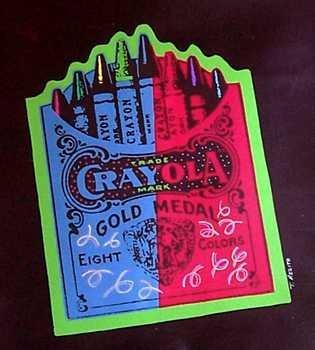 940A: POP Art Crayola Canvas Original Colorful Painting