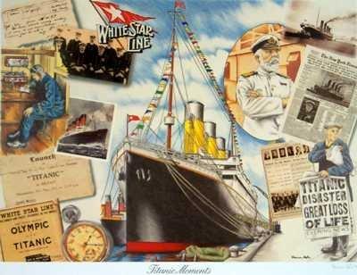 533B: Titanic Fine Art Poster RARE ONLY $40 / $150 Valu