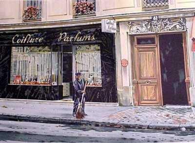739B: Paris Street Scene Ltd Ed Estate Sale Low Price