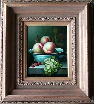 5109C: Still Life Fruit Bowl Framed Huge Art Sale