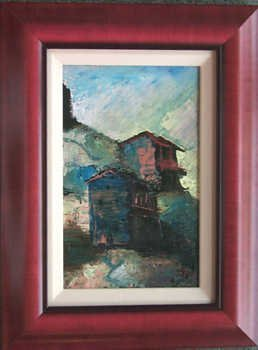 5521C: Framed Textured ORIGINAL Acrylic Painting on Can