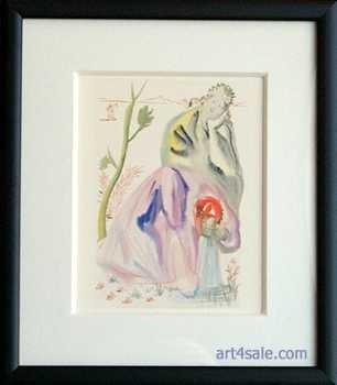 6373C: Salvador Dali FRAMED Divine Comedy Engraving