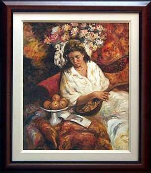 6751C: ORIGINAL Painting Royo Style Impressionistic Fra