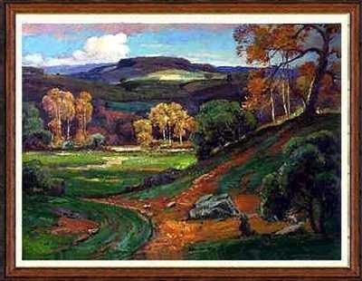 6900C: Landscape Rare Liquidation ORIGINAL Art Framed S