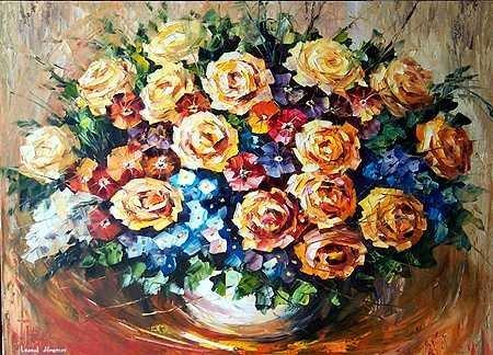 7636C: Large Canvas ORIGINAL Painting Colorful Textured
