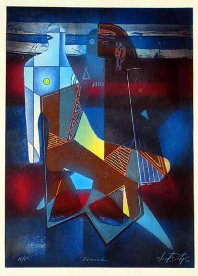 339E: Séance Figurative Abstract Contemporary Colorful