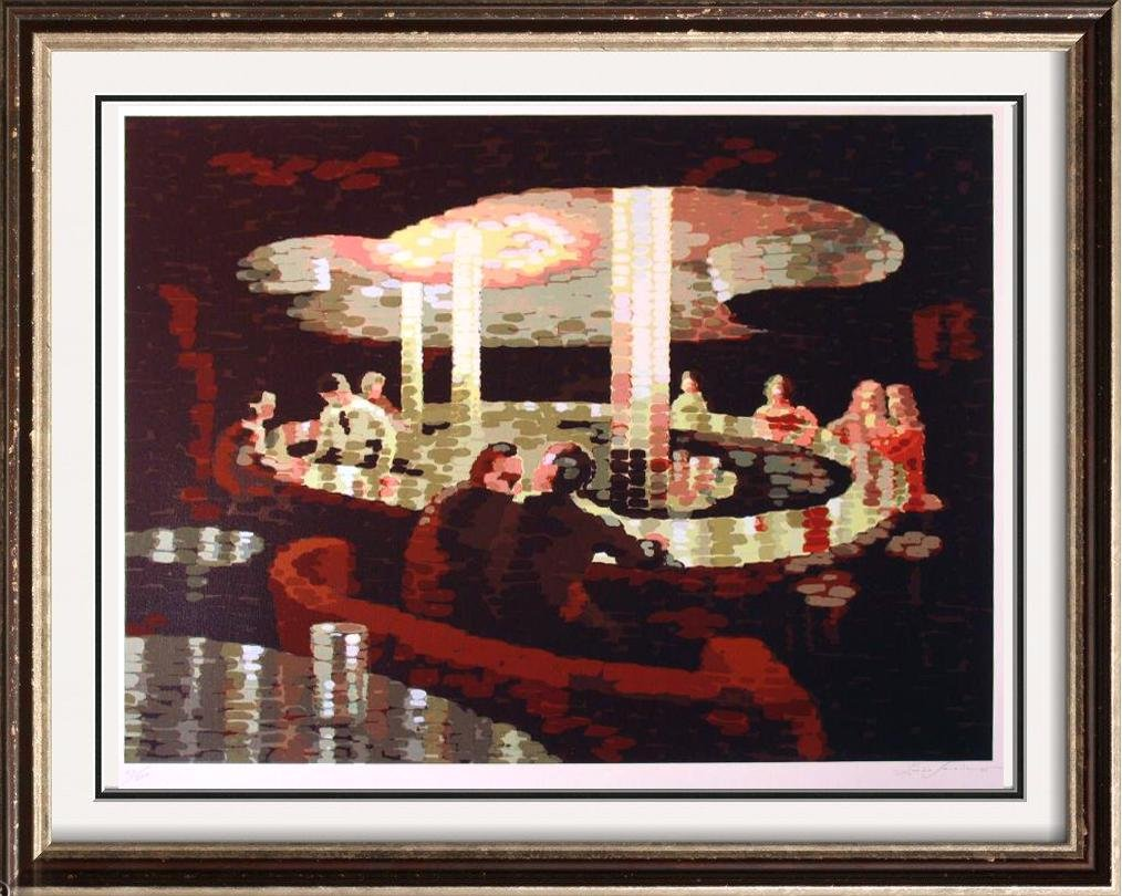 Abstract BAR Scene Modern Signed Limited Edition