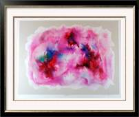 Abstract Women Pink Colorful Signed Ltd Ed Lithograph