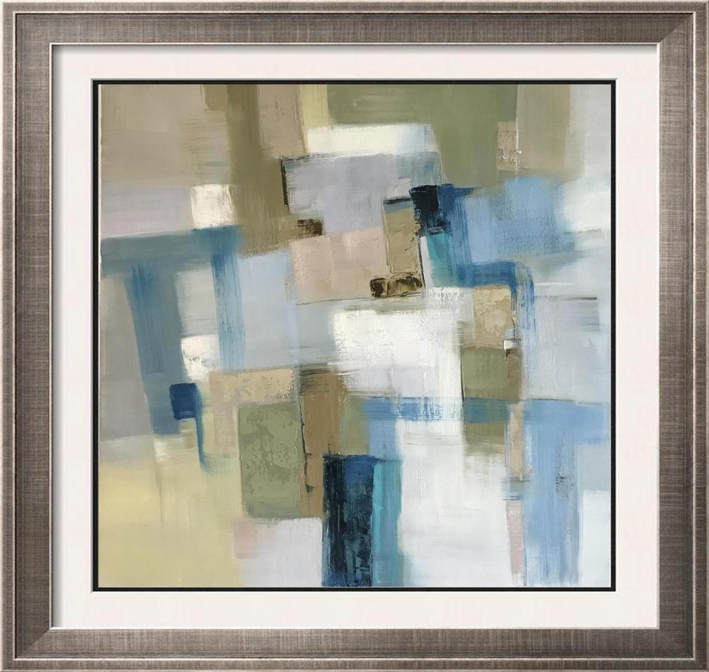 Geometric Modern Abstract Janet Swahn Original Painting