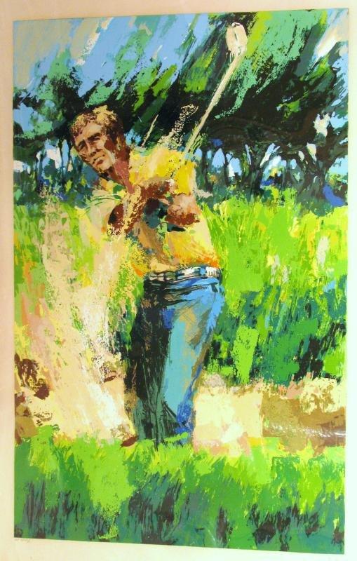 Neiman-Style Sand Trap Golf Impressionism Ltd Ed Art