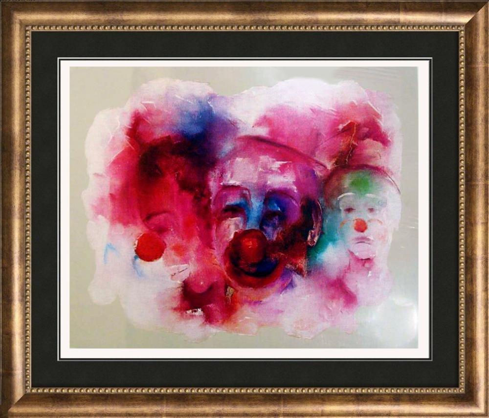 Abstract Clowns Colorful Sale Art Deco Dealer Sale