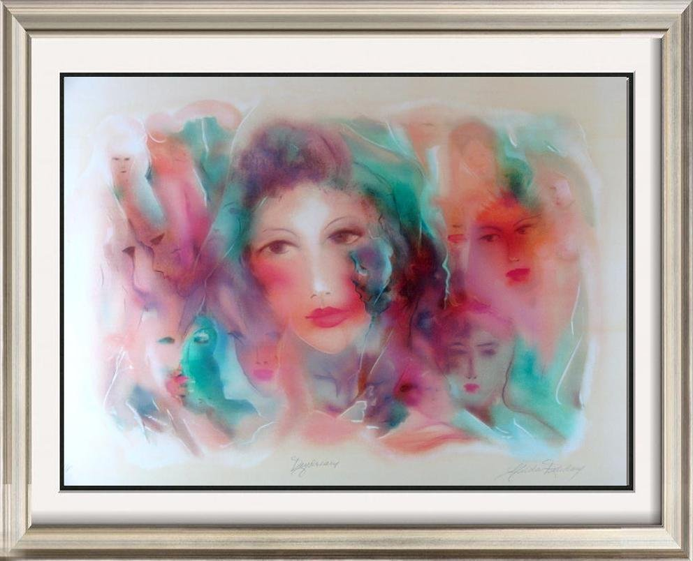 Large Faces Abstract Colorful Signed Ltd Ed Sale Art