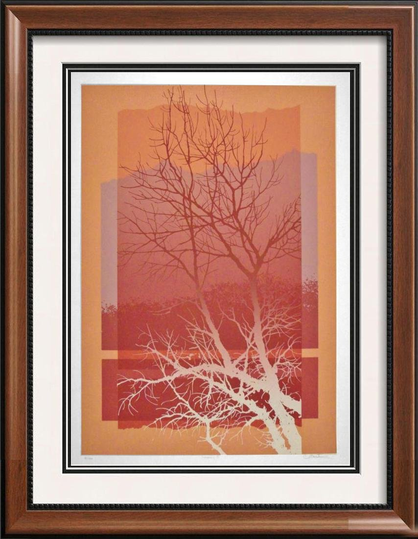 Warhol-Style Silhouette Abstract Trees Modern Ltd Ed