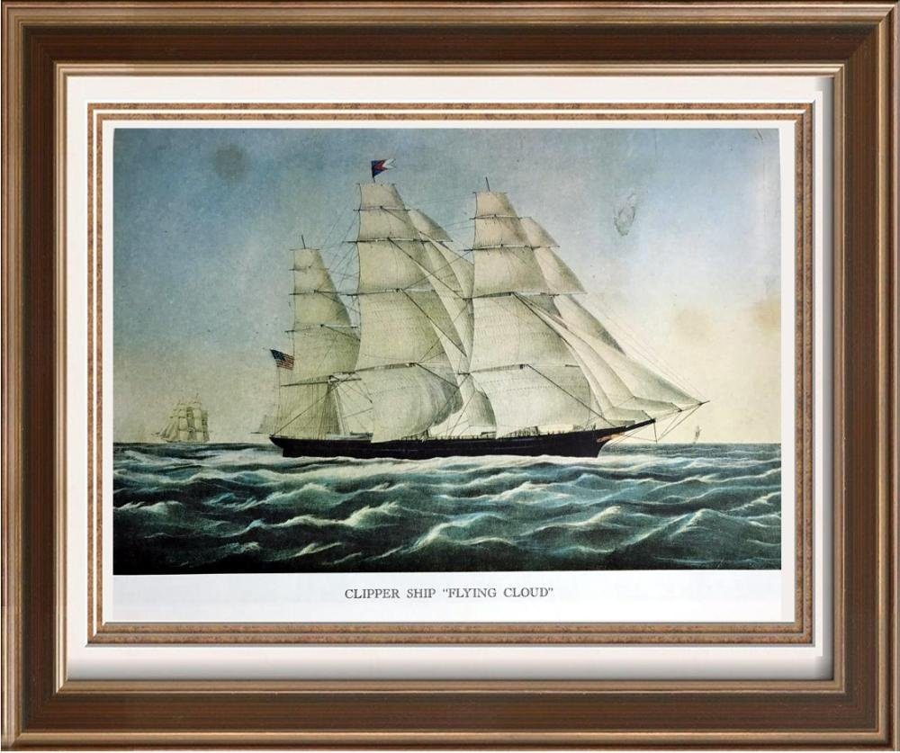 Clipper Ship Flying Cloud Color Lithographic Fine Art
