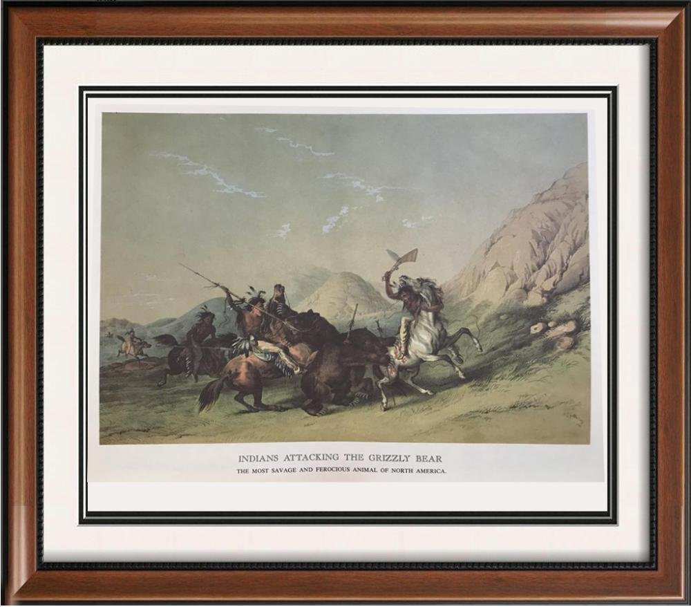 The North American Indian: Indians Attacking The