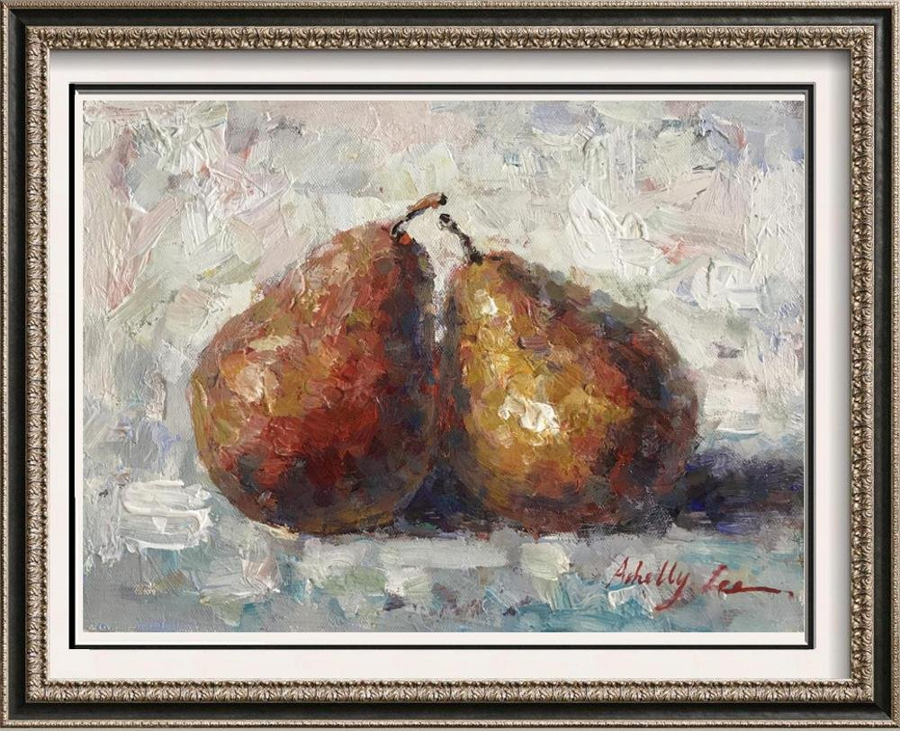 Canvas Pair of Pears Heavy Textured Painting