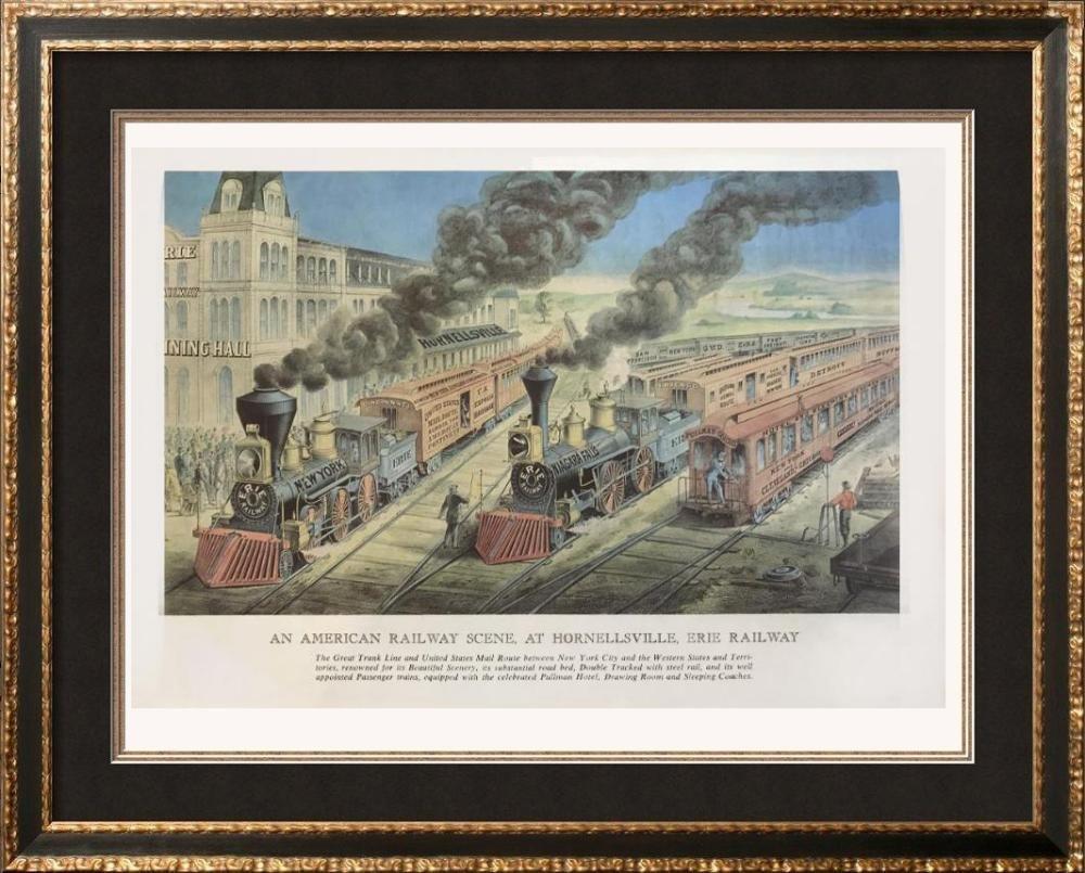 Railroads: An American Railway Scene At Hornellsville