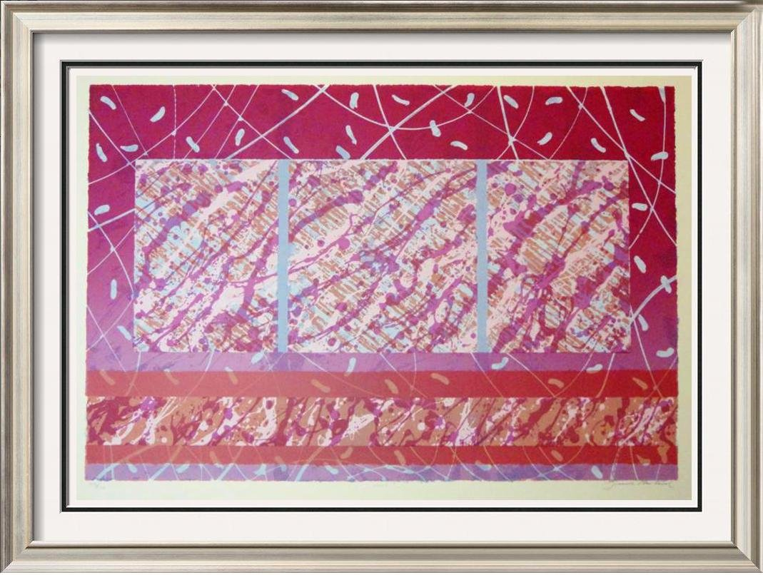 Abstract Red Violet Color Splash Large Modern Ltd Ed