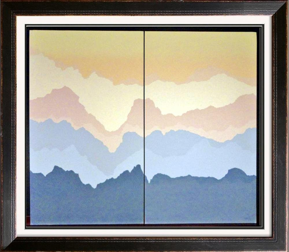 2 Piece Suite Mountain Landscape Abstract Limited Art