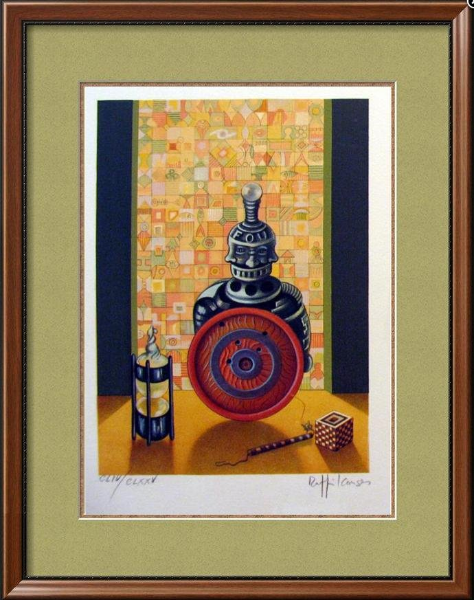 Chess Bishop Art Signed Lithograph Limited Edition Only