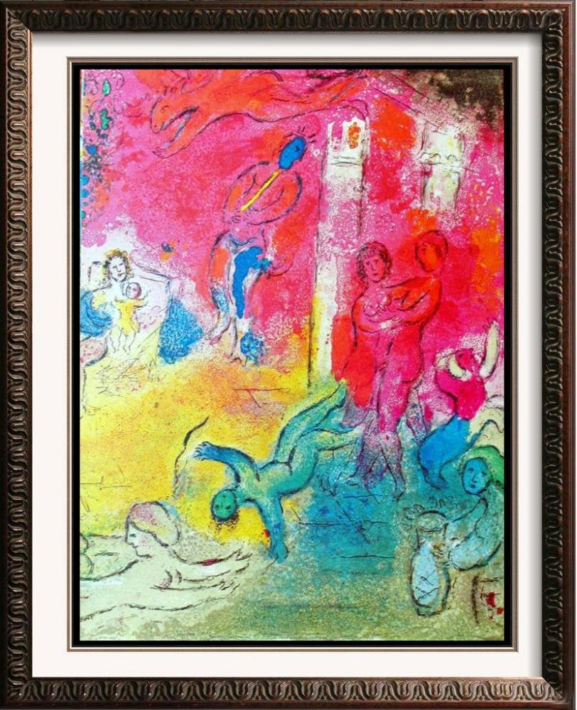 Fantastic Colored Lithograph Marc Chagall (After)