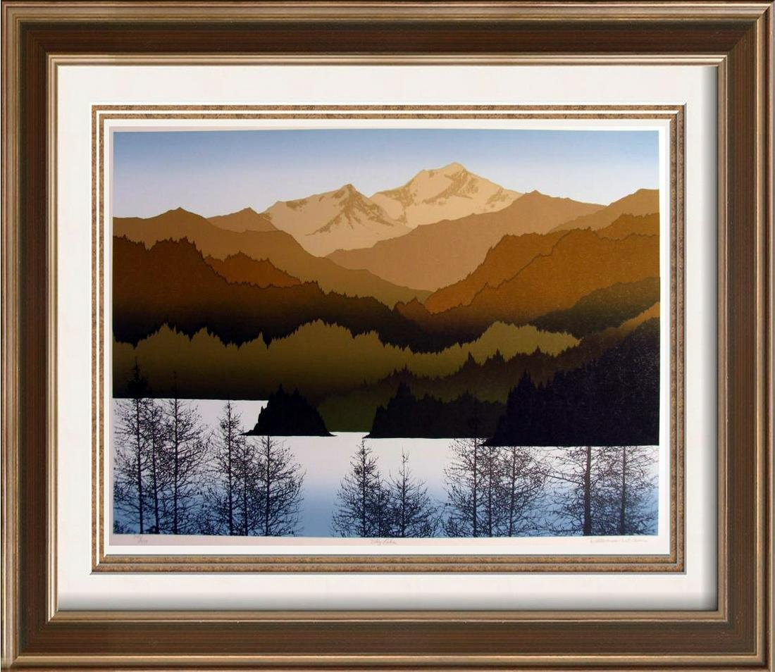 Scenic Moutnain Abstract Earth Tone Limited Edition