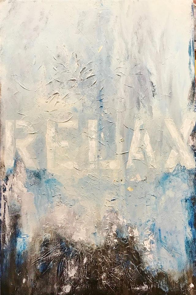 Relax Modern Original Painting on Canvas Swahn