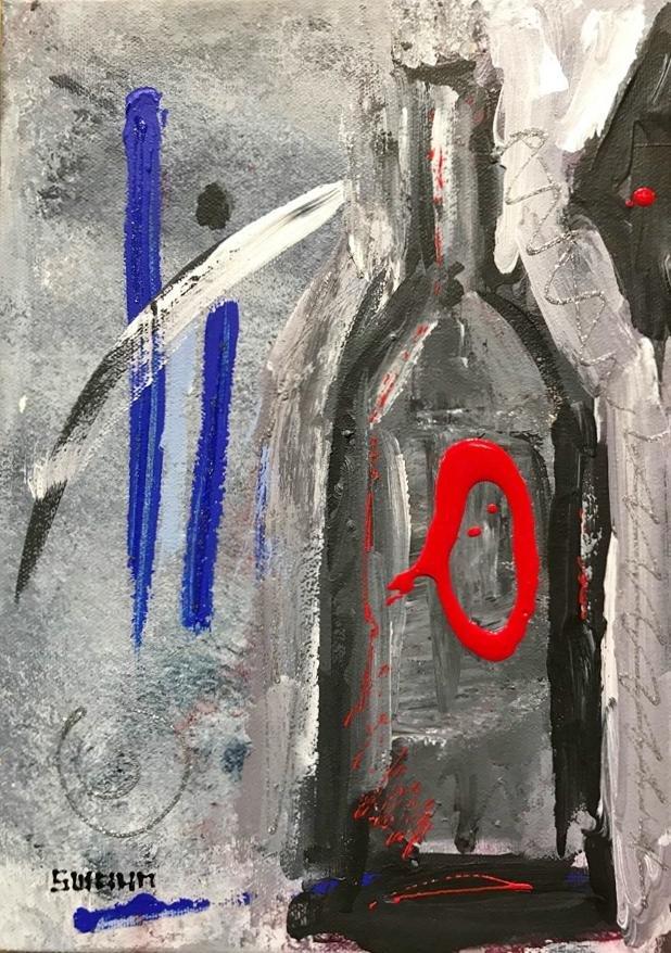 Janet Swahn Modern Wine Canvas
