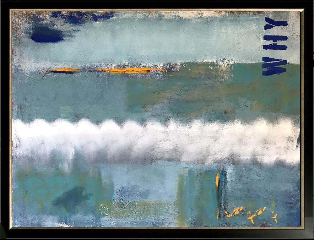 Swahn Abstract in Blue Modern Textured Original