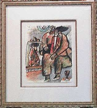 487: Theo Tobiasse Framed Signed Lithograph HUGE Sale