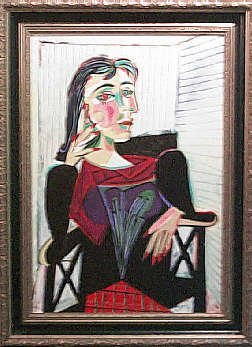 502: Picasso Parody Original Painting on Canvas Framed