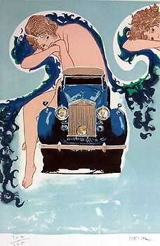 557: Rolls Royce Deco Art Style Liquidation ONLY $25