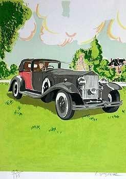 564: Rolls Royce Deco Art Style Liquidation ONLY $25