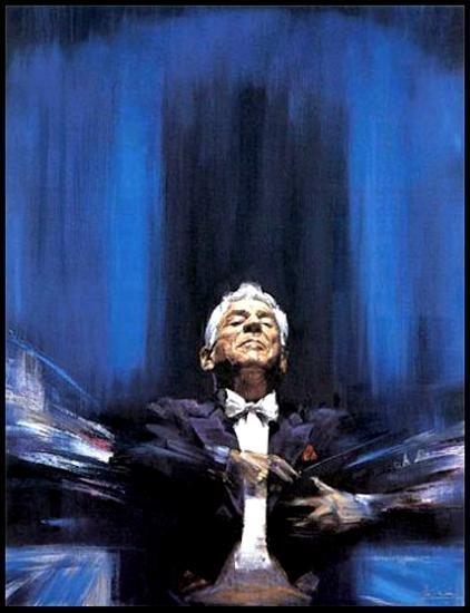 4106: Leonard Bernstein Canvas Ltd Ed Signed Art Sale