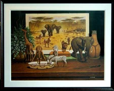 8019: Bo Newell Signed Canvas 30x40 Liquidation Art Sal