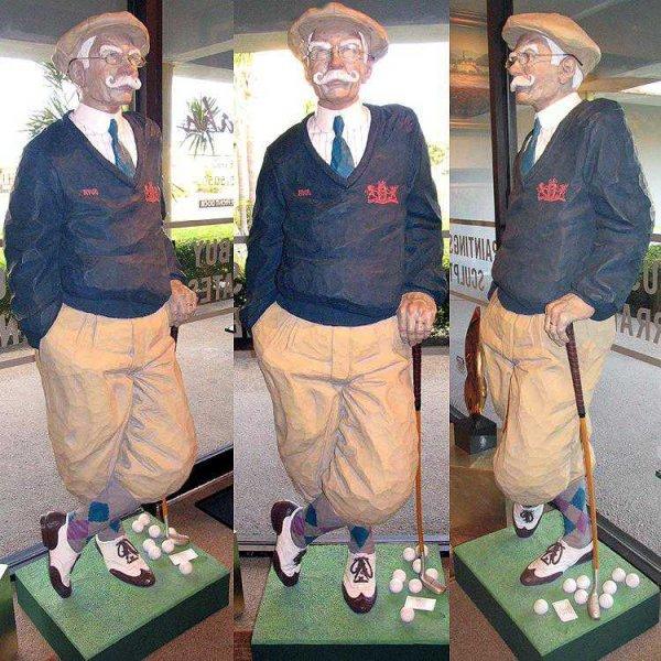 8641: Life Size Golfer Jack Dowd $12K Value HUGE SALE