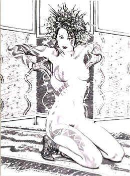 3260B: Black & White Olivia Erotica Ltd Ed Signed Art