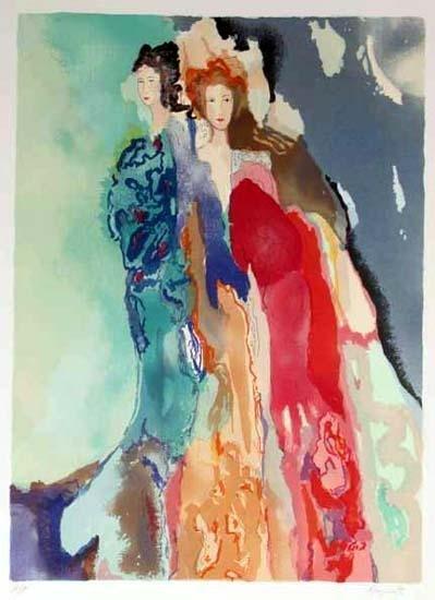 301039: COLORFUL BAZINET SIGNED LTD ED FINE ART LIQUIDA