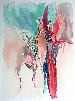 301255: TARKAY COLORFUL STYLE ARTWORK BAZINET LTD ED SA